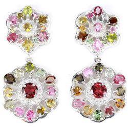 NATURAL AAA MULTI COLOR TOURMALINE Earrings