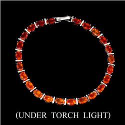 Natural 6x4 MM Orange Fire Opal Bracelet