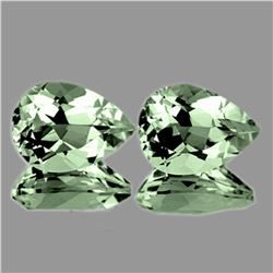 Natural Green Amethyst Pair 14x10 MM - Flawless