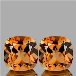 Natural Champagne Imperial Topaz Pair {Flawless-VVS1 }
