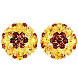 NATURAL MULTI COLOR CITRINE & GARNET Earrings