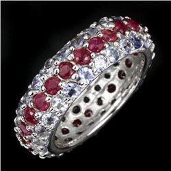 Natural Ruby & Tanzanite Ring
