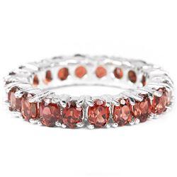 Natural DRAK ORANGE RED GARNET Ring