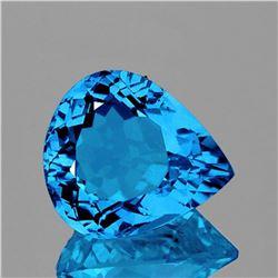 NATURAL SWISS BLUE TOPAZ 15x12 MM [FLAWLESS]