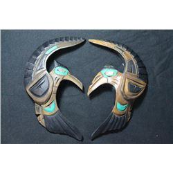 West Coast Native Hand Carved Love Birds Pair