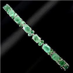 Natural  Rich Green Emerald 62 Ct Bracelet