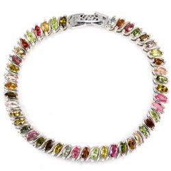 NATURAL Fancy Color TOURMALINE MARQUISE Bracelet