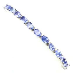 Natural  Blue Violet Tanzanite 55.17 ct  Bracelet