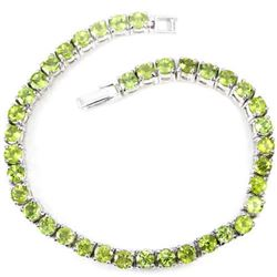 NATURAL AAA APPLE GREEN PERIDOT Bracelet