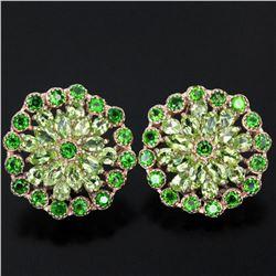 NATURAL GREEN CHROME & GREEN PERIDOT Earrings