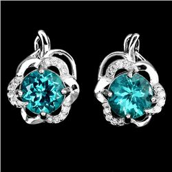 Exquisite Top Neon Blue Apatite Earrings