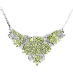 NATURAL APPLE GREEN PERIDOT  Necklace