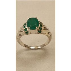 GORGEOUS 3.5 CT NATURAL EMERALD RING.