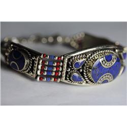 Tibet Hand Made Lapiz Lazuli & Coral Bracelet