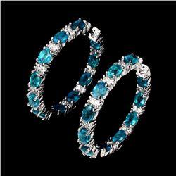 Natural Neon Blue Apatite Earrings