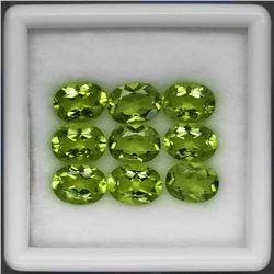 Natural Apple Green Peridot Pakistan 8x6 MM.