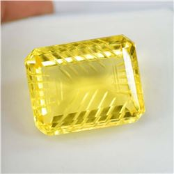 Certified  Brazilian Yellow Citrine 107 Carats