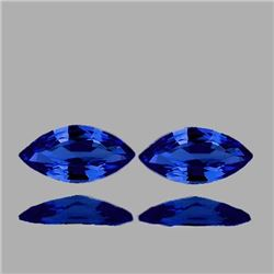 NATURAL DEEP VIOLET BLUE SAPPHIRE PAIR 7.5X4 MM[VVS]