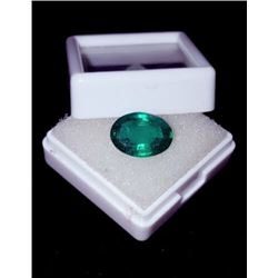 Natural Forest Green Oval Emerald 6.15 Carats
