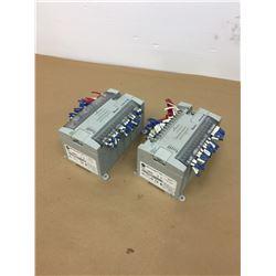 (2) Allen-Bradley 1762-L40BWA MicroLogix PLC I/O Modules