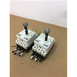(2) Siemens 3VF3111-1FQ41-0AA0 Circuit Breakers