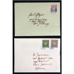 The Grand Budapest Hotel (2014) - Set of 2 Pieces of Mail With Zubrowka Stamps