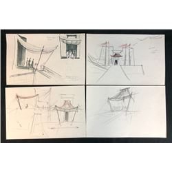 Stargate (1994) - Set of 4 Hand Drawn Pyramid Construction Drawings