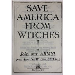 "Fantastic Beasts and Where to Find Them (2016) - ""Save America From Witches!"" Flyer"