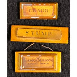 Harry Potter Film Series - 3 Miniature Moving Staircase Portrait Name Plaques