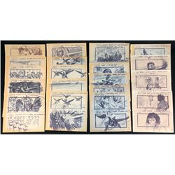 Flash Gordon (1980) - Collection of 20 Production Used Storyboards (Copies)