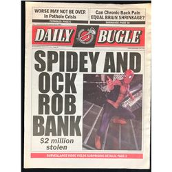 Spider-Man 2 (2004) - Daily Bugle Newspaper Prop - Spidey And Ock Rob Bank