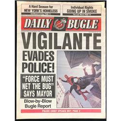 Spider-Man (2002) - Daily Bugle Newspaper Prop - Spider-man and Criminal