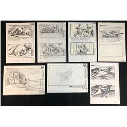 Batman (1989) - Collection of 7 Hand Drawn Storyboards