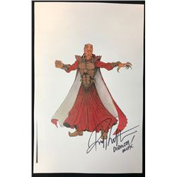 Wishmaster (1997) - Djinn Color Concept Artwork Signed by Director Robert Kurtzman