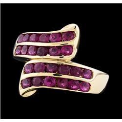 14KT Yellow Gold 1.80 ctw Ruby and Diamond Ring
