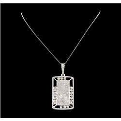 14KT White Gold 5.62 ctw Diamond Pendant with Chain