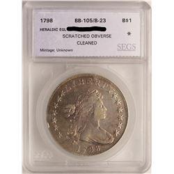 1798 Heraldic Eagle $1 Draped Bust Silver Dollar Coin