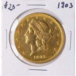 1903 $20 Liberty Head Double Eagle Gold Coin