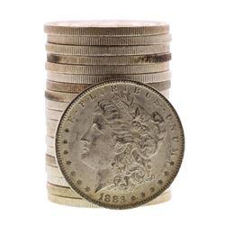 Roll of (20) Brilliant Uncirculated 1883-O $1 Morgan Silver Dollar Coins