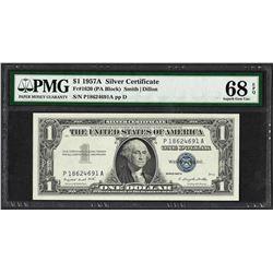 1957A $1 Silver Certificate Note Fr.1620 PMG Superb Gem Uncirculated 68EPQ