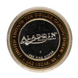 .999 Fine Silver Aladdin Casino Las Vegas, NV $10 Limited Edition Gaming Token