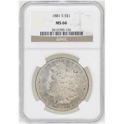 1881-S $1 Morgan Silver Dollar Coin NGC MS66