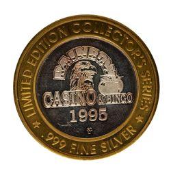 .999 Fine Silver Rainbow Casino & Bingo $10 Limited Edition Gaming Token