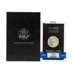 1887 $1 Morgan Silver Dollar Coin NGC MS63 GSA Hoard w/ Box