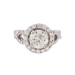 18KT White Gold 2.58 ctw Brilliant Cut Diamond Engagement Ring