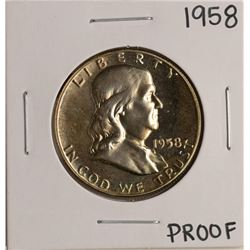 1958 Proof Franklin Half Dollar Coin