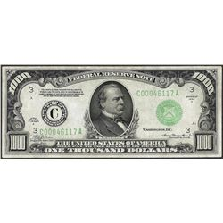 1934A $1,000 Federal Reserve Note Philadelphia