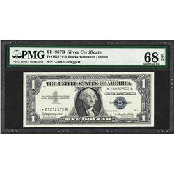 1957B $1 Silver Certificate STAR Note Fr.1621* PMG Superb Gem Uncirculated 68PPQ