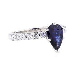 14KT White Gold 1.31 ctw Sapphire and Diamond Ring