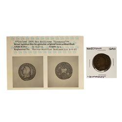 1690 Ireland May Half Crown Gun Money Coin ANACS Graded